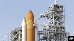 """将搭乘""""亚特兰蒂斯号""""前往国际空间站的四名宇航员"""