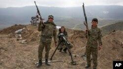 Армянские военнослужашие. Нагорный Карабах. Азербайджан. 6 апреля 2016 г.