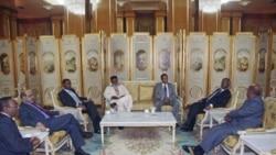 ديدار عمر البشیر و سلوا کییر پیش از اعلام رسمی کشور سودان جنوبی