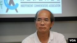 劉銳紹表示,目前局勢是數十年來最嚴峻 (美國之音湯惠芸拍攝)