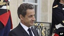 L'ancien président Nicolas Sarkozy, candidat aux primaires de la droite française, 12 septembre 2011