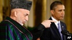 Afg'oniston va Amerika rahbarlari Hamid Karzay va Barak Obama