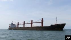 """美国司法部发布的朝鲜货船""""智诚号""""的照片。(2019年5月9日)"""
