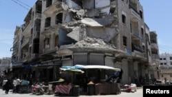 شامی فوج کے حملے سے ادلب کو نقصان پہنچا۔ 25 مئی 2019