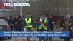 VOA60 Addunyaa - Russia's Alliance of Doctors demands that opposition leader Alexey Navalny be seen by an independent doctor