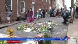 یادبود قربانی تنشهای نژادی در شارلوتزويل با پوشیدن لباسهایی به رنگ بنفش