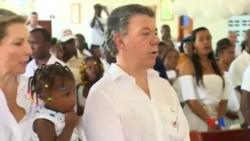 2016-10-10 美國之音視頻新聞: 哥倫比亞總統桑托斯將捐出諾貝爾獎金
