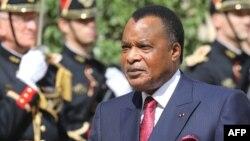 Président Denis Sassou Nguesso na Paris, France, 3 septembre 2019.