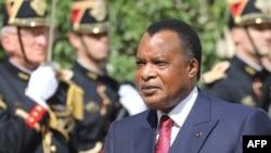 Le président de la République du Congo, Denis Sassou Nguesso, arrive pour une visite au Palais de l'Elysée à Paris, le 3 septembre 2019. (AFP)