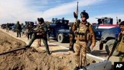지난 2월 이라크 라마디 주에서 정부군이 ISIL에 대항해 작전을 펼치고 있다. (자료사진)