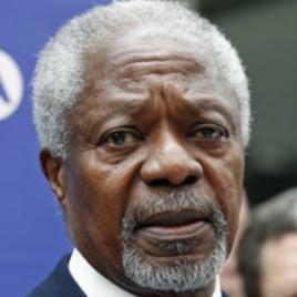 UN-Arab League envoy Kofi Annan addresses media (March 13, 2012 file photo)