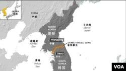 朝鲜半岛地理位置图。(资料照片)