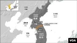 朝鮮半島非軍事區地理位置圖