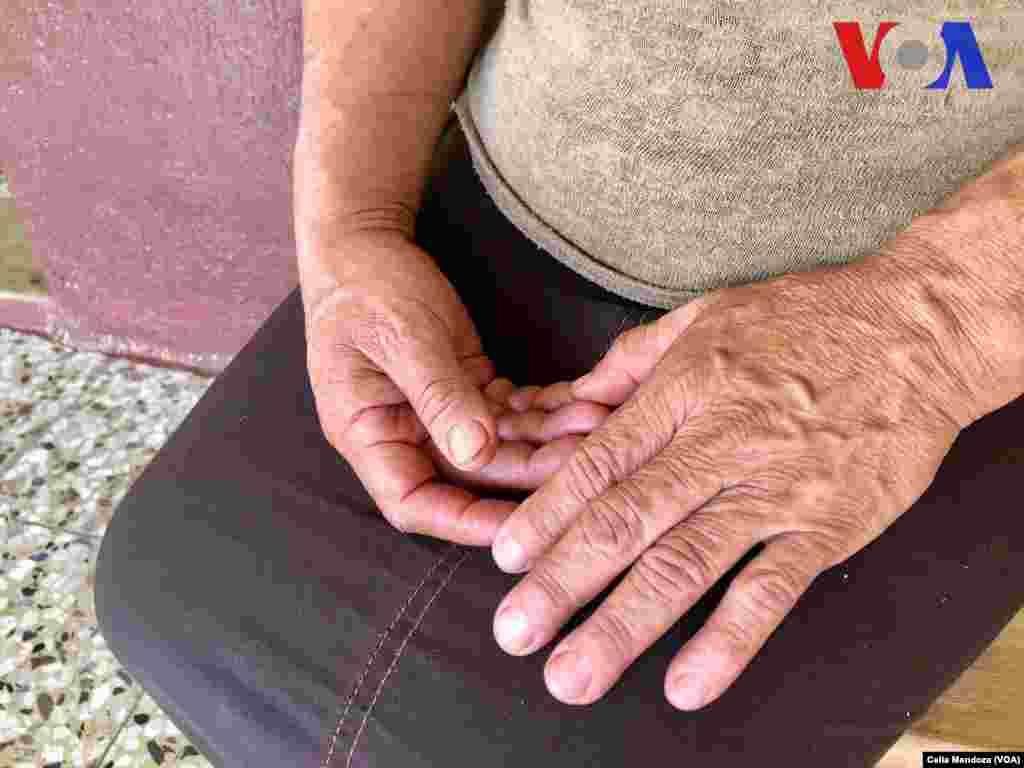 Guadalupe García Payes es la mamá de Yeni González. (Celia Mendoza - VOA)