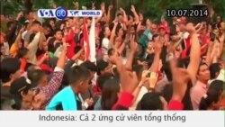 2 ứng viên tổng thống Indonesia cùng ăn mừng chiến thắng (VOA60)