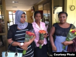 The three mothers accompanied their children from Tanzania to the U.S. for surgeries and recovery following the horrific bus crash May 6, 2017. (Photo courtesy of Samaritan's Purse)