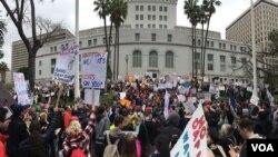 Demonstracije protiv predsednika Trampa u Los Anđelesu
