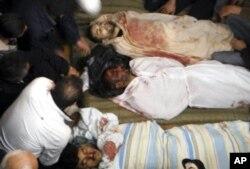 Des corps de certaines des victimes de la répression selon des témoins
