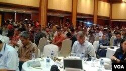 Badan Nasional Penanggulangan Terorisme menggelar silaturahmi dengan124 napi terorisme dan 51 korban terorisme di Hotel Borobudur, Jakarta hari Rabu 28/2. (Foto: VOA/Andylala)