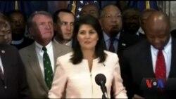 Ніккі Гейлі - перша жінка, призначена в адміністрацію президента Трампа. Відео