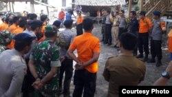 Basarnas hari Senin (9/7) menghentikan pencarian terhadap korban kecelakaan Kapal KM Lestari Maju, namun masih melakukan pemantauan selama 3 hari ke depan. (Foto courtesy: Basarnas Makassar)