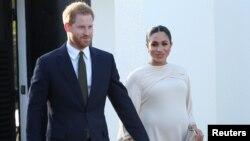 Pangeran Harry dari Inggris dan istrinya, Meghan, mengumumkan kelahiran putra pertama mereka lewat akun Instagram (foto: dok).