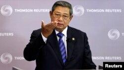 Presiden Susilo Bambang Yudhoyono dalam perjalanan menuju New York, AS untuk menerima penghargaan Negarawan Dunia 2013 dari sebuah organisasi AS (foto: dok).