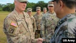 美中軍人2019年11月參與年度交流項目(美國陸軍照片)