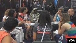 国际艾滋病大会(视频截图)