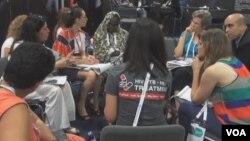 國際愛滋病大會(視頻截圖)