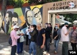 El llamado de la oposición liderada por el presidente interino Juan Guaidó. Caracas, diciembre 6, 2020. Foto: Álvaro Algarra - VOA.