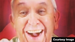 """This picture of Pope Francis was circulating online and was purported to be his 'first selfie."""" It was a hoax."""