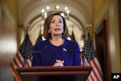 La líder de la Cámara de Representantes, Nancy Pelosi, anunció el martes el proceso en curso.