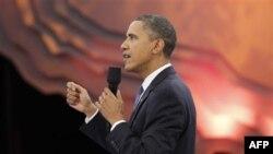 Президент Обама на встрече с молодыми избирателями, которая транслировалась по телевидению. Вашингтон. 14 октября 2010 года