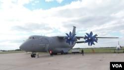 2013年莫斯科航展上展出的乌克兰安东诺夫运输机。(资料照)