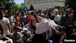 Des migrants sur Kos (Reuters)