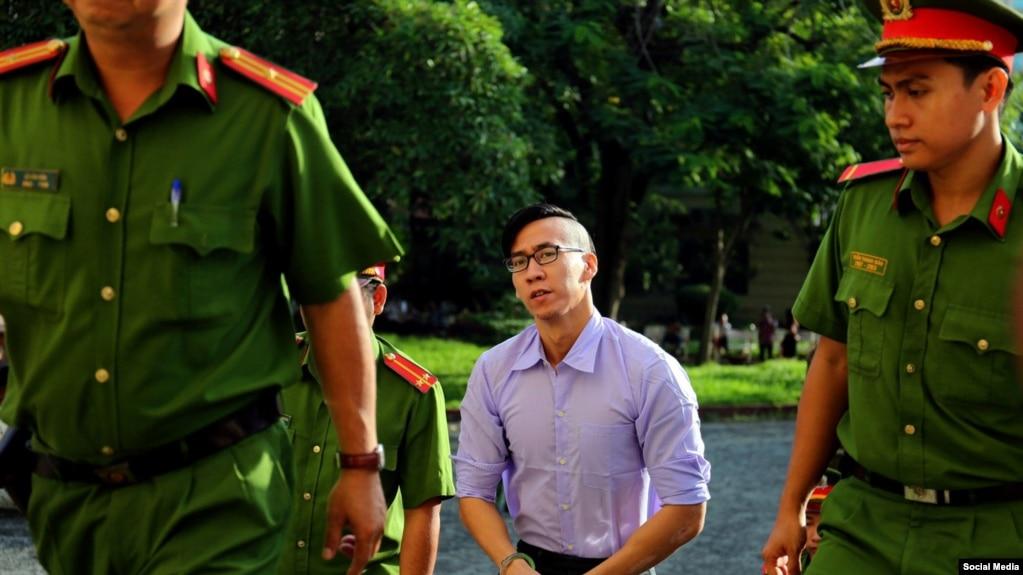 Will Nguyễn tại tòa ngày 20/7/2018. (Hình: Facebook Free Will Nguyễn)