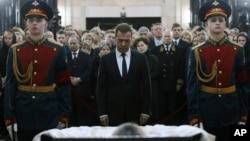 Дмитрий Медведев на церемонии прощания с послом России в Турции Андреем Карловым. Москва, Россия, 22 декабря 2016.