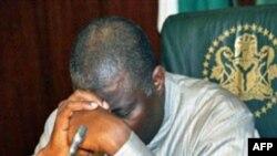 尼日利亚代理总统乔纳森在就职仪式上