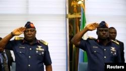 Des officiers de l'armée nigeriane
