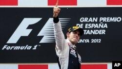 El piloto de Williams, el venezolano Pastor Maldonado ganó el Gran Premio de España en Barcelona.