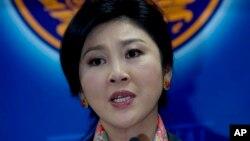 잉락 칫나왓 태국 전 총리 (자료사진)