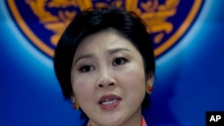 FILE - Thailand's ousted Prime Minister Yingluck Shinawatra.