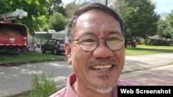 Bác sĩ Hồ Hải trong một livestream hôm 19/5/2021 tại một thành phố ở Texas. Photo Facebook Ho Thien Co.
