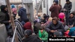 Migrants en Macédoine.