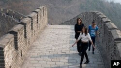 Michelle Obama di Tembok Besar China