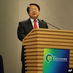 中国文化部长蔡武发言