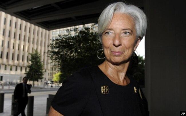 La Française Christine Lagarde, directrice générale du FMI.