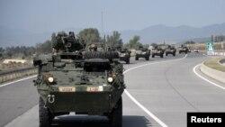 """NATO-nun başçılığı ilə Gürcüstanda """"Ləyiqli Tərəfdaş 2018"""" hərbi təlimləri, 28 iyul, 2018."""