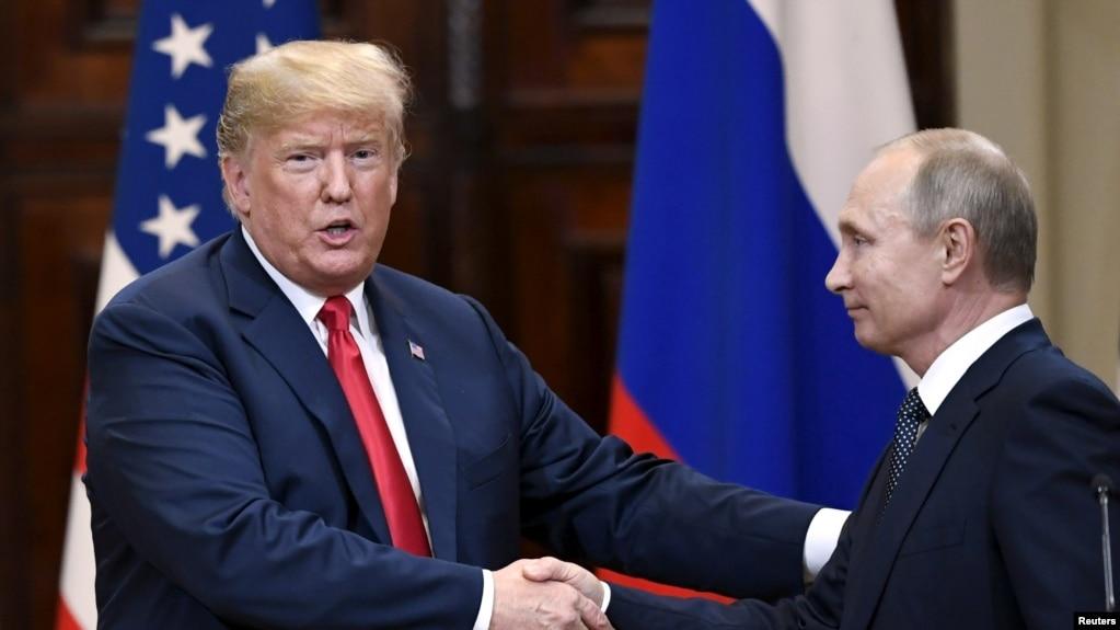 Tổng thống Mỹ Donald Trump và Tổng thống Nga Vladimir Putin tại cuộc họp báo chung ở Phần Lan hôm 16/7/2018.